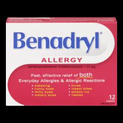 BENADRYL CAPLETS - 12 Pack