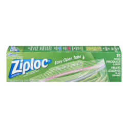 ZIPLOC VEGETABLE BAGS - 15...